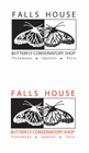 Falls House Butterfly Conservatory (Peru) logo variants)