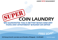 Super Coin Laundry flyer